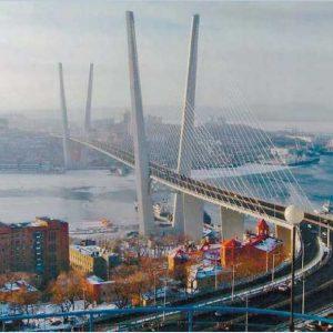 Владивосток. Новый объект инфраструктуры города - мост через бухту Золотой Рог. 2012 г.