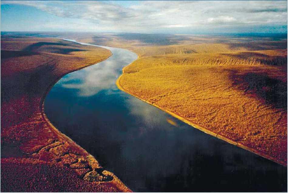 Российские просторы. Река Оленёк на северо-западе Якутии