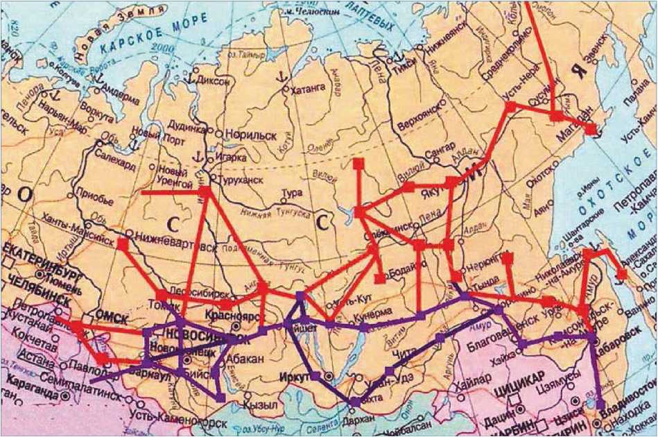 Схема объединения электросетей востока России