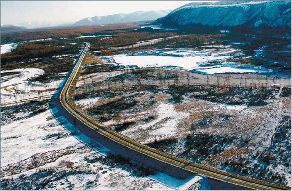 Магаданская область. Участок автодороги «Колыма» (Якутск - Магадан) после реконструкции