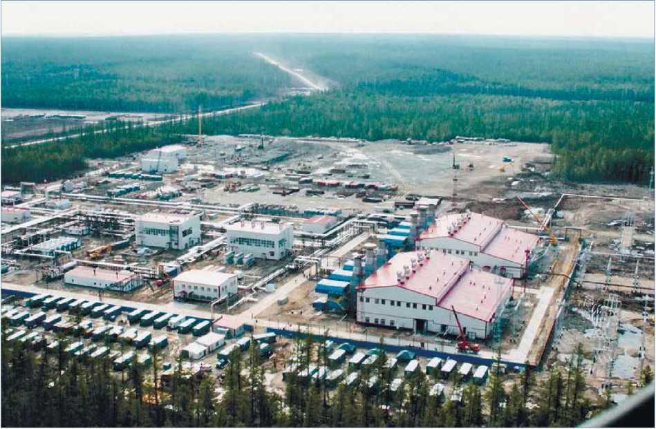 Якутия. Ленский район. Газотурбинная электростанция ОАО «Сургутнефтегаз» на Талаканском нефтегазоконденсатном месторождении.