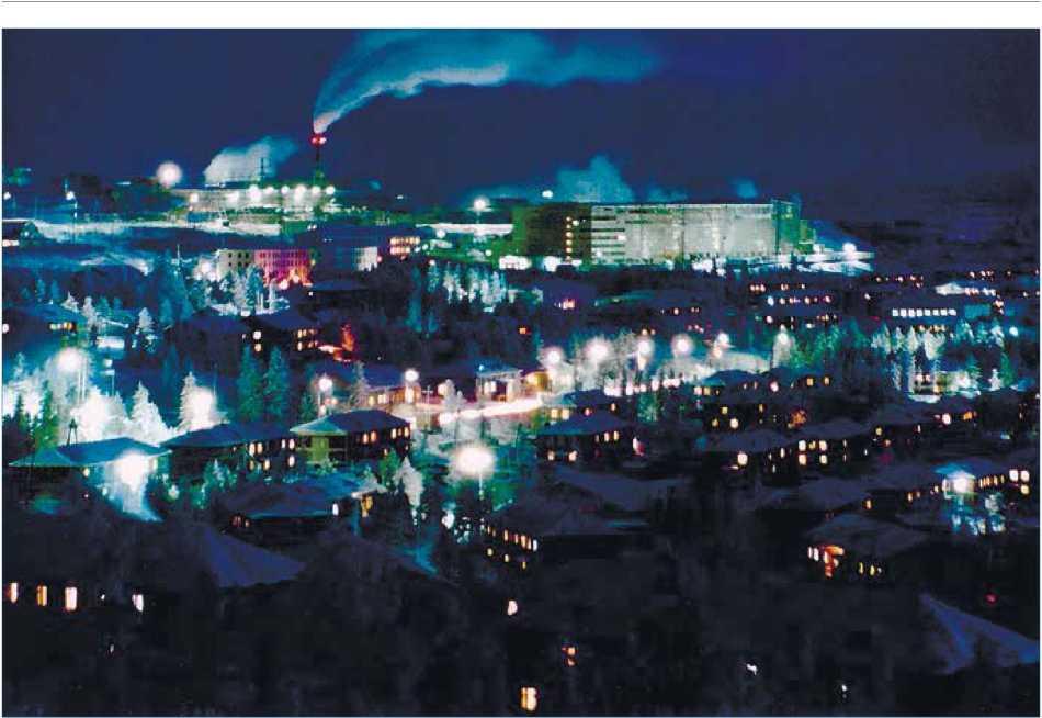 Якутия. Мирнинский район. Зима в приполярном посёлке алмазодобытчиков Айхал.