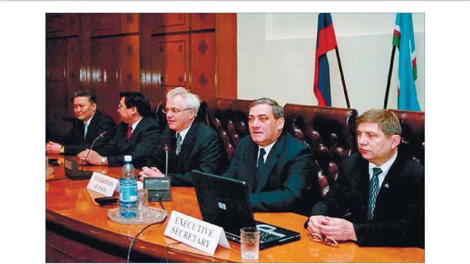 На заседании Комитета старших должностных лиц Арктического совета. г. Якутск. 2005 г.