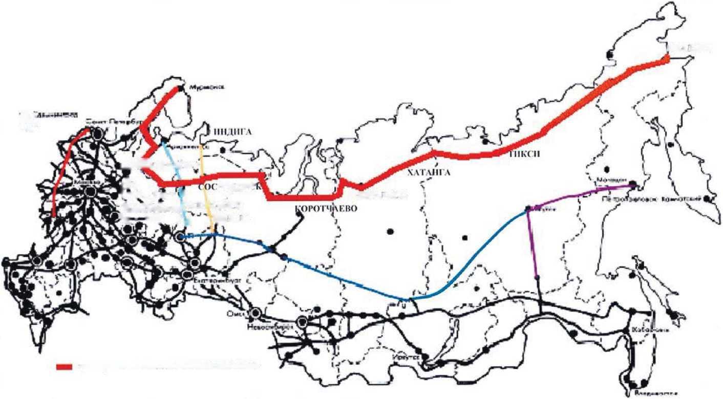 Схема 9. Трансарктическая железнодорожная магистраль